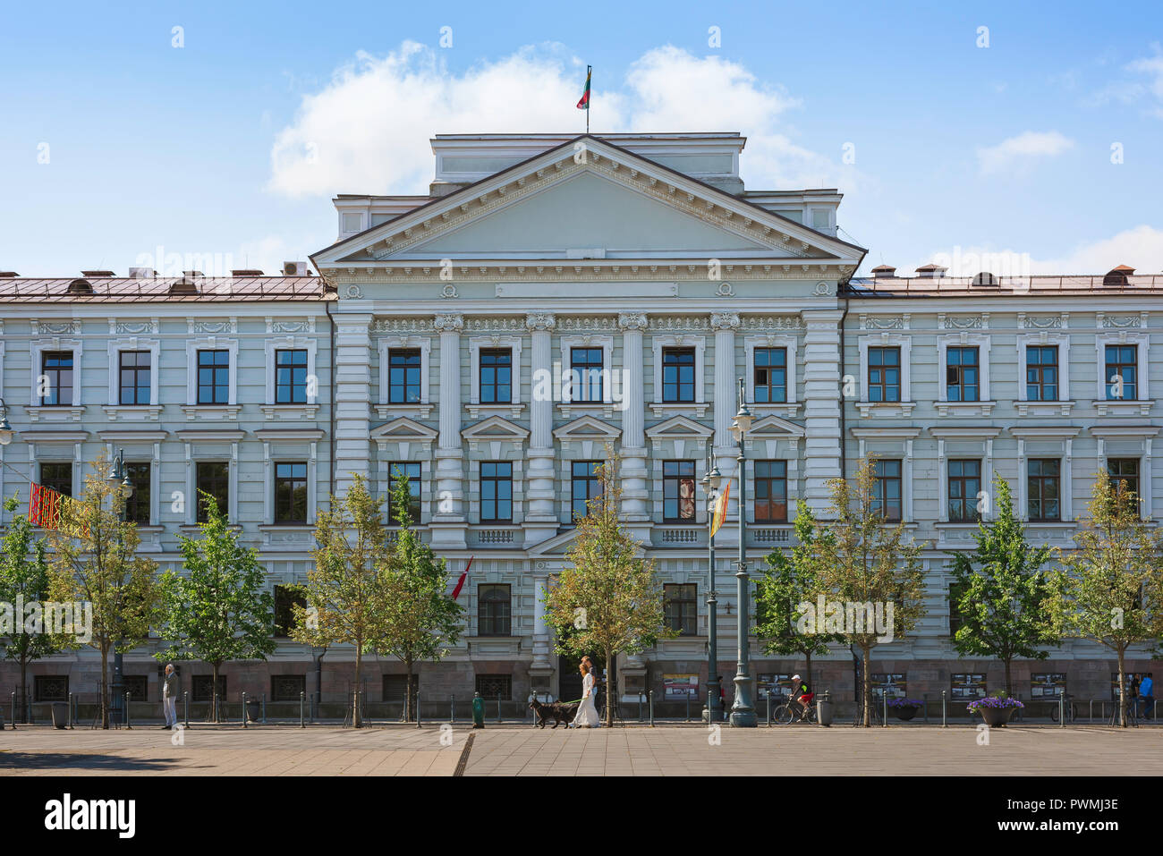 Vilnius Museum Of Genocide Victims, front of the building used by Soviet and Nazi authorities in 1940s and 1950s to imprison and execute Lithuanians. - Stock Image