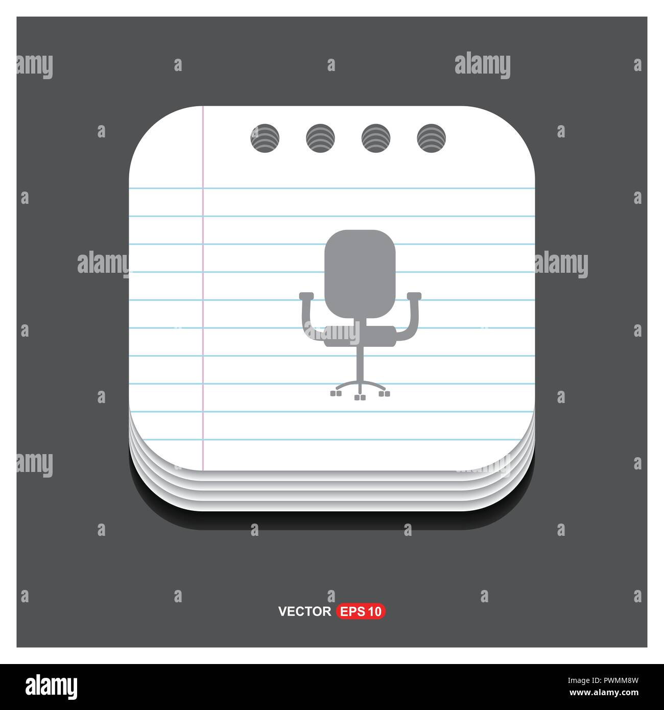 office chair icon free vector icon stock vector art illustration rh alamy com Office Chair Clip Art Fancy Office Chair