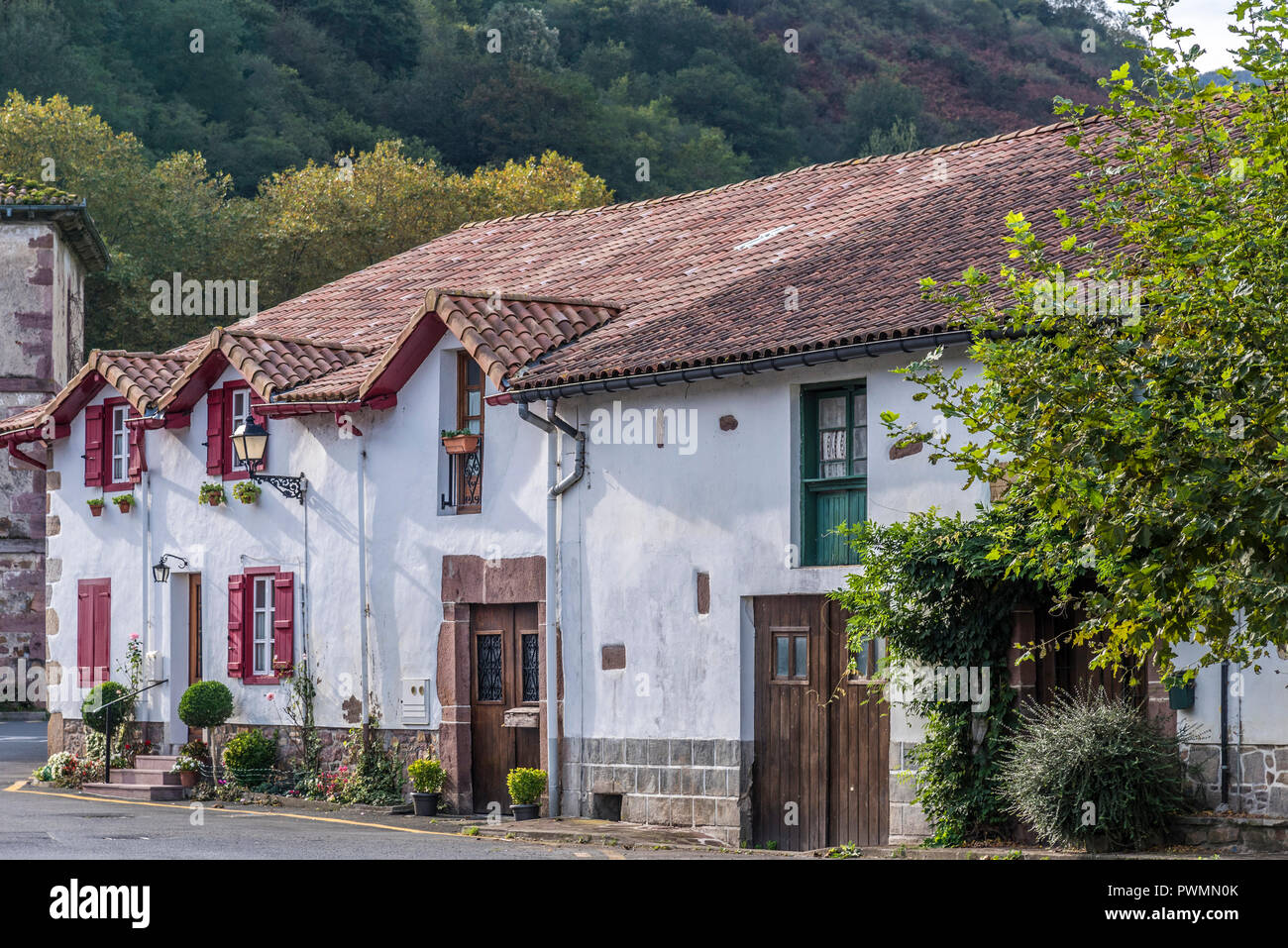 Spain, Basque Country, Navarre, country houses in Urdax (Way of Saint James, way of Baztan) - Stock Image
