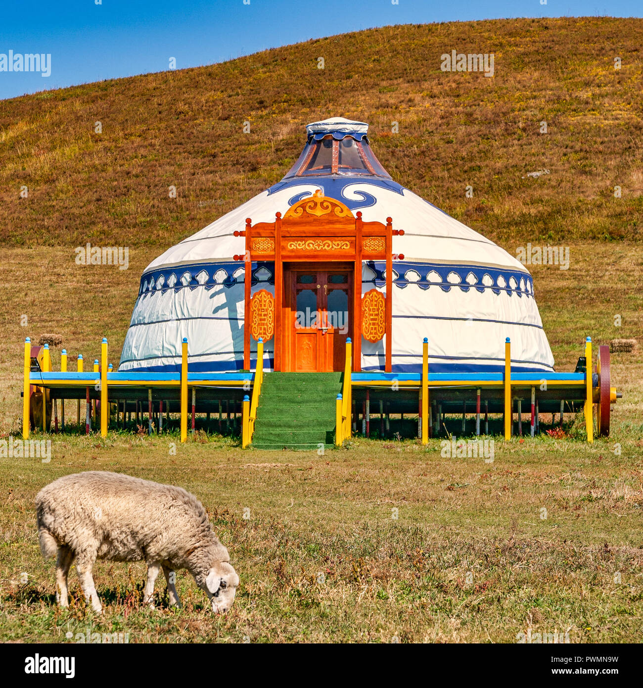 modern-mongolian-yurt-in-the-countryside