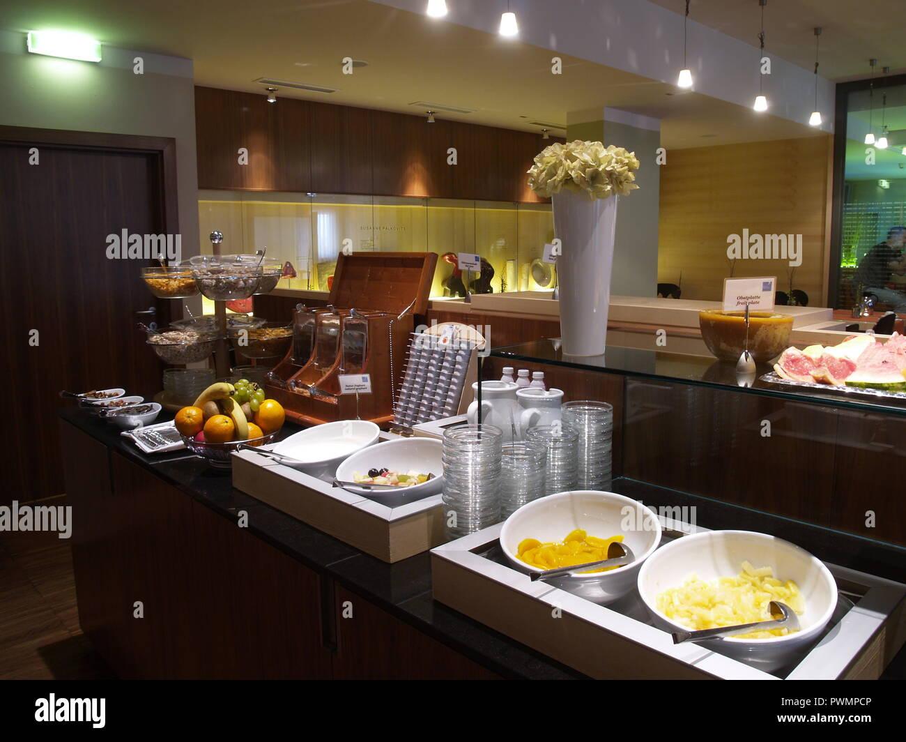 Wien, Hotelfrühstück - Vienna, Breakfast at a Hotel Stock Photo