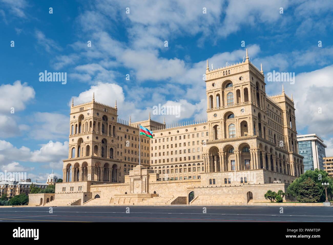 Government House in Baku city, Azerbaijan Republic Stock Photo