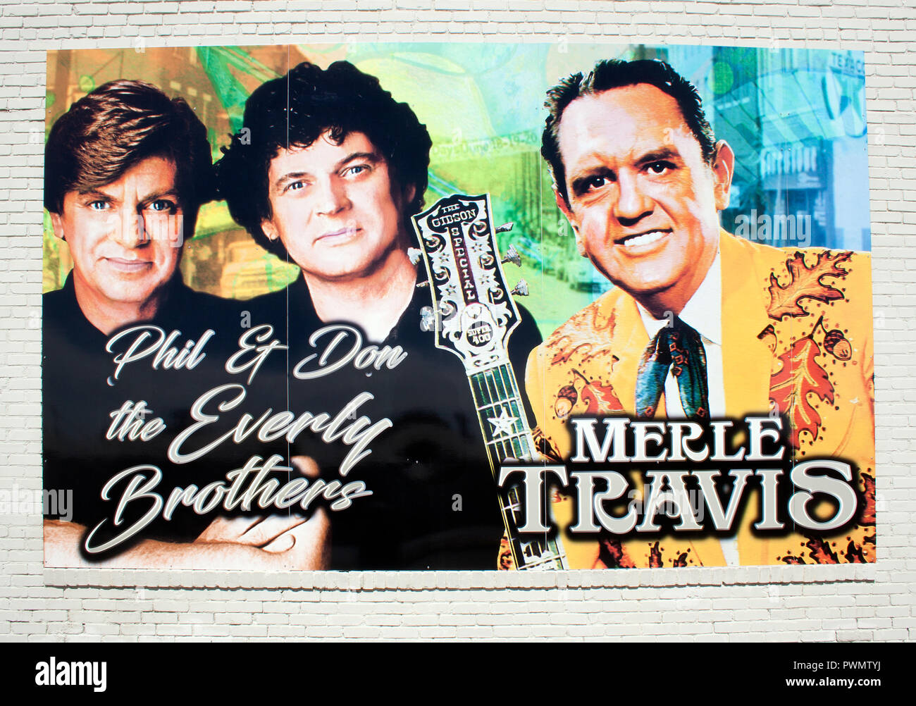 The Everly Brothers Museum in Central City, Kentucky - Stock Image
