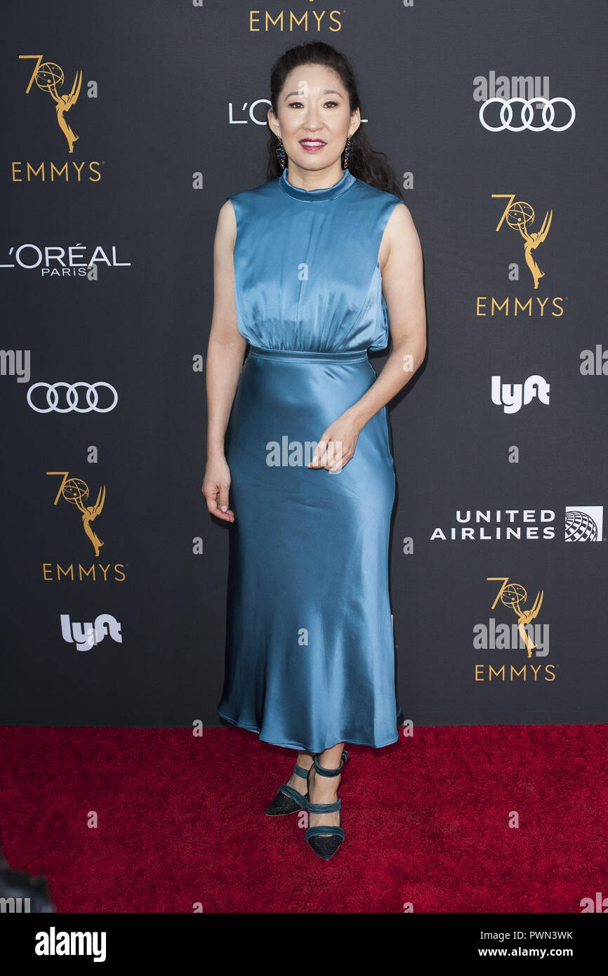 The Television Academy honours Emmy-nominated Performers Reception at Wallis Annenberg Center for the Performing Arts in Beverly Hills, California.  Featuring: Sandra Oh Where: Beverly Hills, California, United States When: 15 Sep 2018 Credit: Tony Forte/WENN Stock Photo
