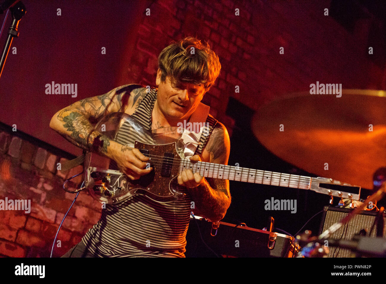 Oh Sees (Thee Oh Sees) John Dwyer - 12th July 2018 - Boiler Shop Newcastle - Live concert performance - Stock Image