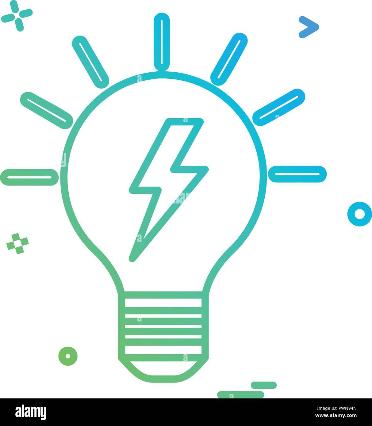Blub Power Electric Icon Vector Design Stock Art Circuit Schematic Symbols