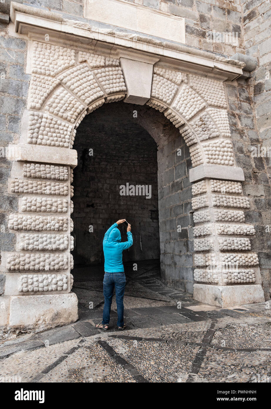 Portal Fosc in Peñíscola, Spain, one of the filming locations for Game of Thrones (season six) - Stock Image