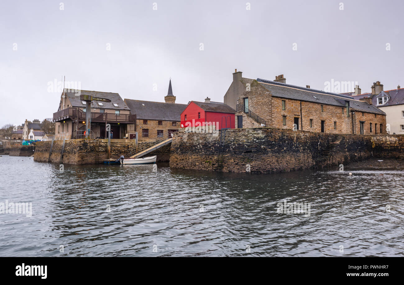 Seafront and Port of Stromness ,Mainland ,Orkney Islands, Scotland Stock Photo