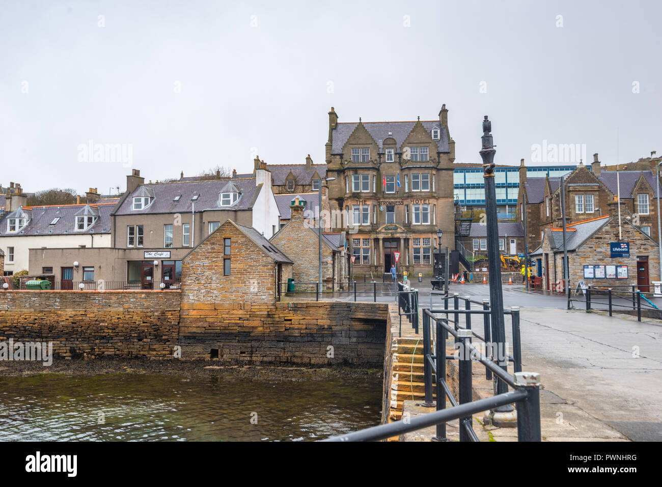 Seafront of and the Stromness Hotel ,Mainland ,Orkney Islands, Scotland Stock Photo