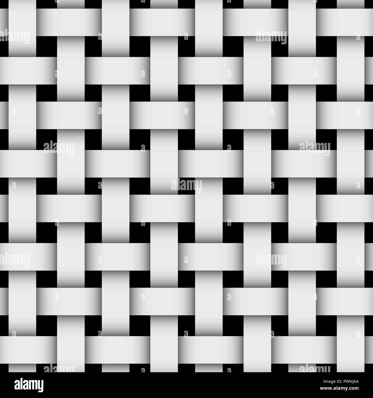 3d geometric background with weaving pattern. Gray design on black - Stock Vector