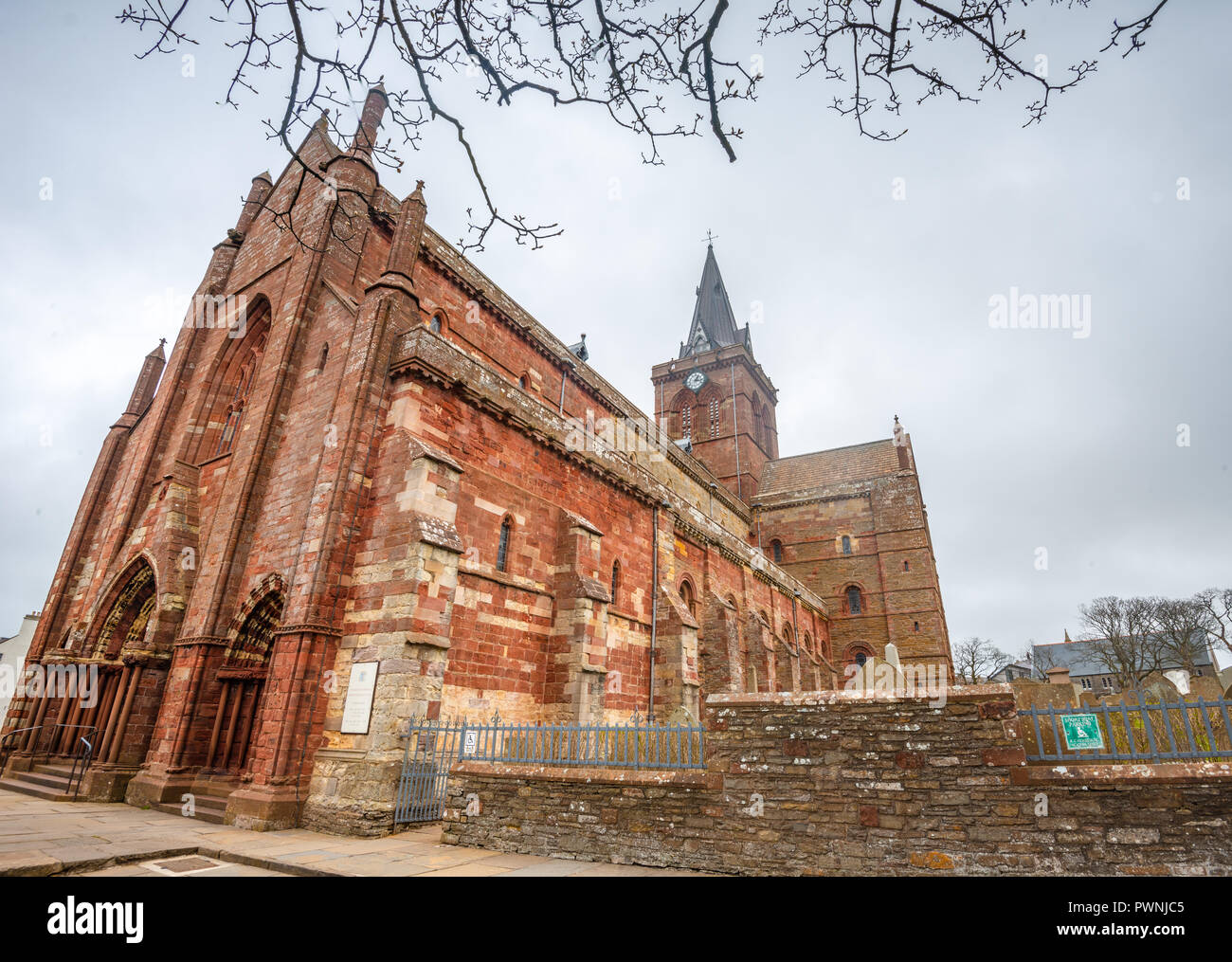 Norman St Magnus Cathedral, Kirkwall, Orkney Islands, Scotland, United Kingdom - Stock Image