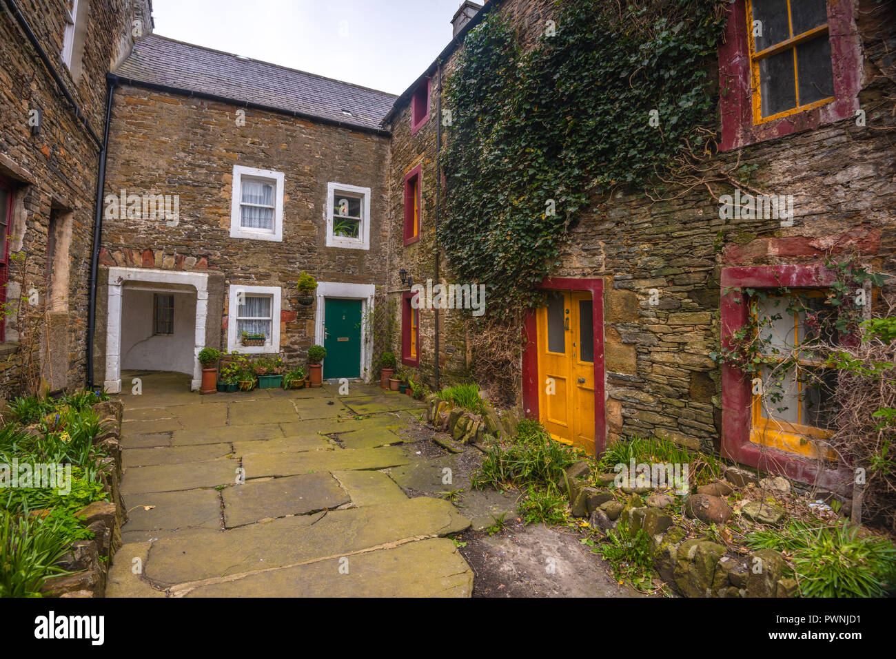 Stone cottage in Kirkwall ,Mainland ,Orkney Islands, Scotland - Stock Image