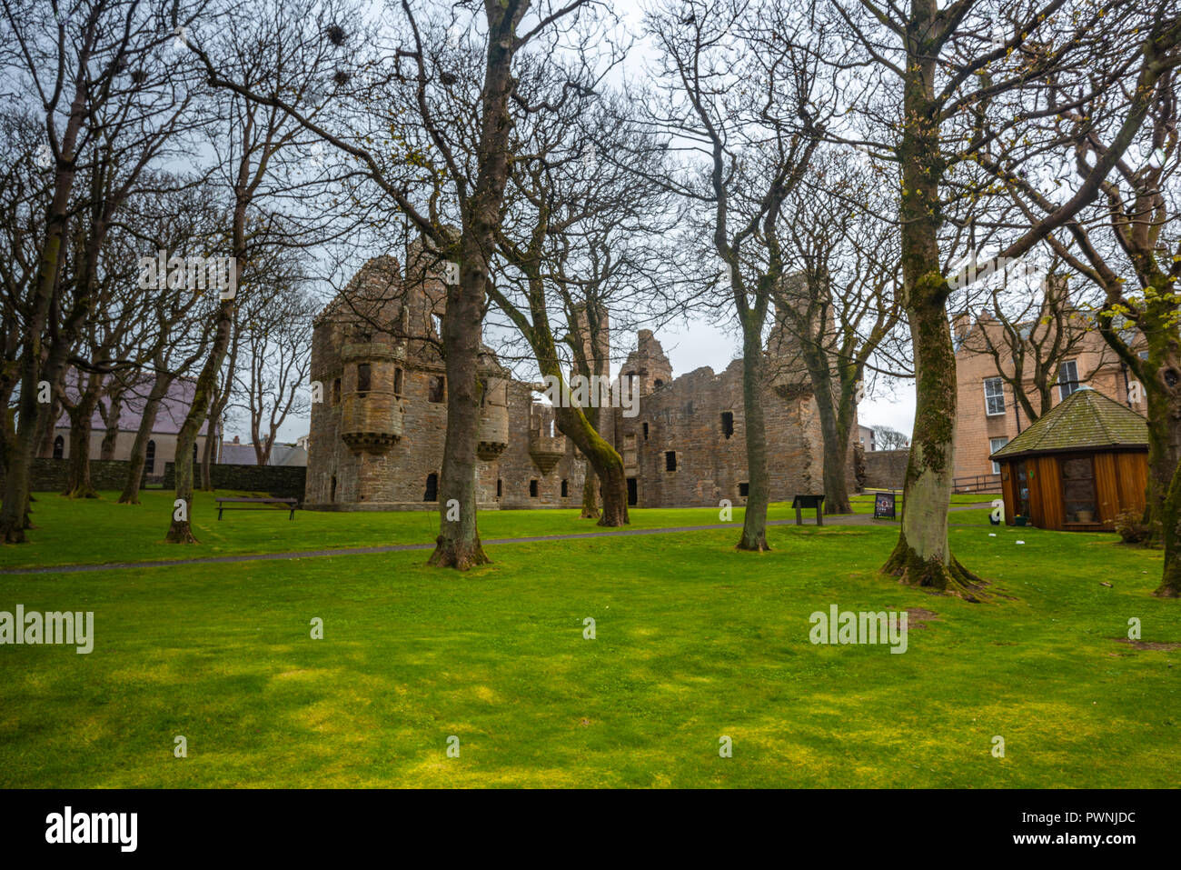 Bishop's and Earl's Palaces  Kirkwall, Orkney Islands, Scotland, United Kingdom - Stock Image