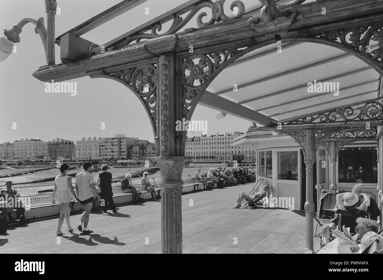 Eastbourne pier, East Sussex, England, UK. Circa 1980's - Stock Image