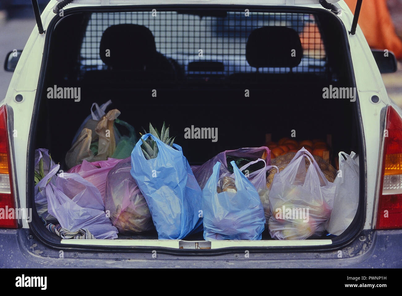 Weekly Shopping Bags Stock Photos Weekly Shopping Bags Stock