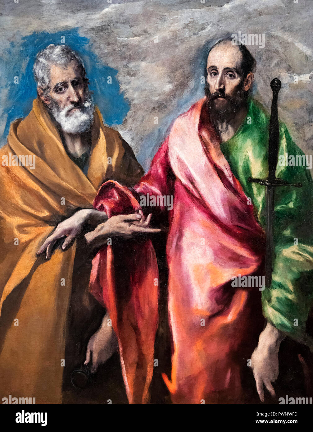 St Peter and St Paul by El Greco (Domenikos Theotokopoulos, 1541-1614), oil on canvas, c.1590-1600 - Stock Image