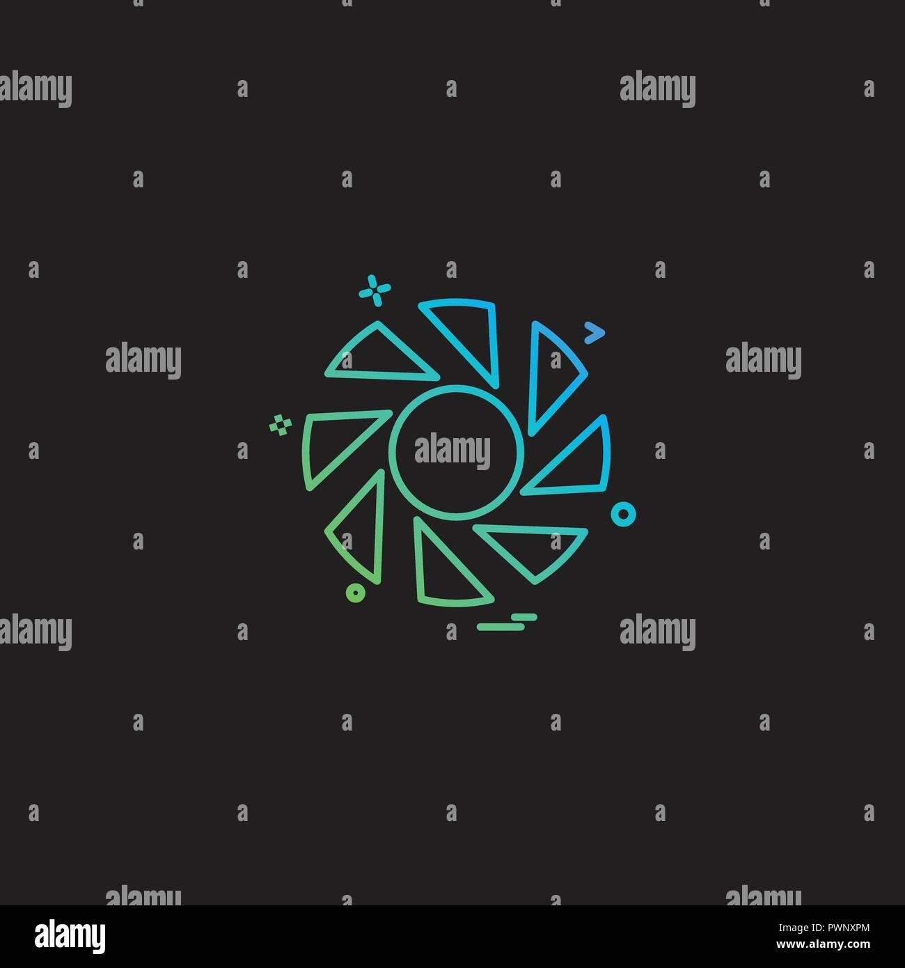 Shutter Icon Design Vector Stock Vector Art Illustration