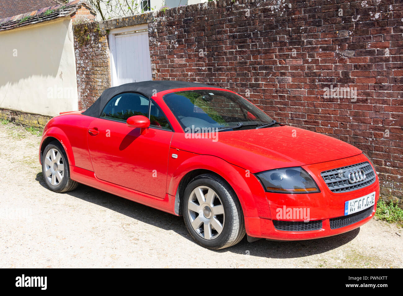 Audi TT convertible sports car, Bere Regis, Dorset, England, United Kingdom - Stock Image