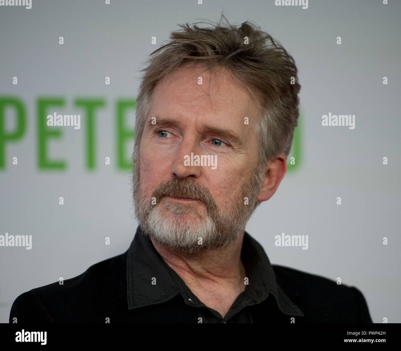 Manchester, UK. 17th October 2018. Actor Pearce Quigley who plays the character Joshua arrives at the BFI London Film Festival premiere of Peterloo, at the Home complex in Manchester. Credit: Russell Hart/Alamy Live News - Stock Image