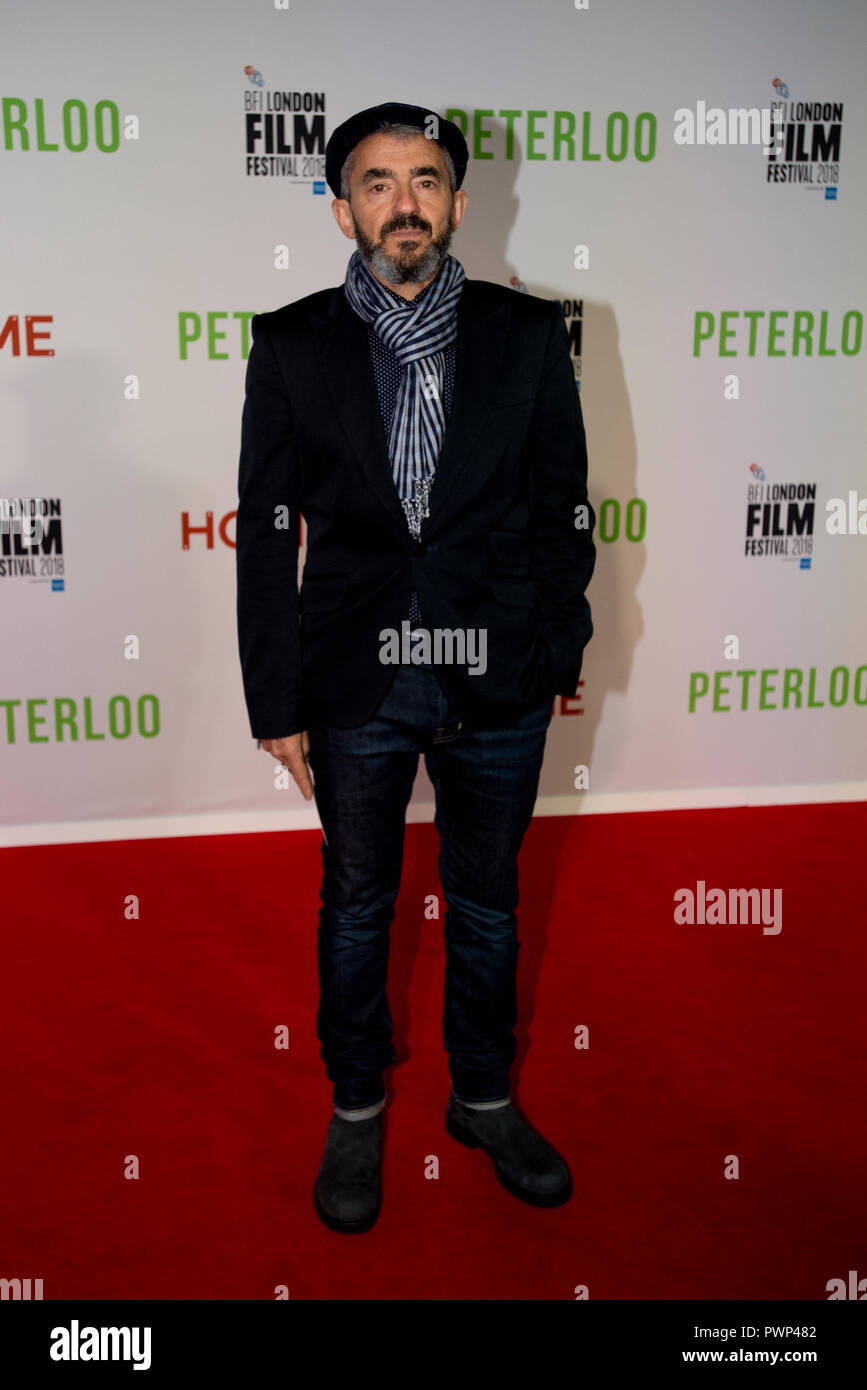 Manchester, UK. 17th October 2018. Daniel Battsek, Head of Film 4, arrives at the BFI London Film Festival premiere of Peterloo, at the Home complex in Manchester. Credit: Russell Hart/Alamy Live News - Stock Image