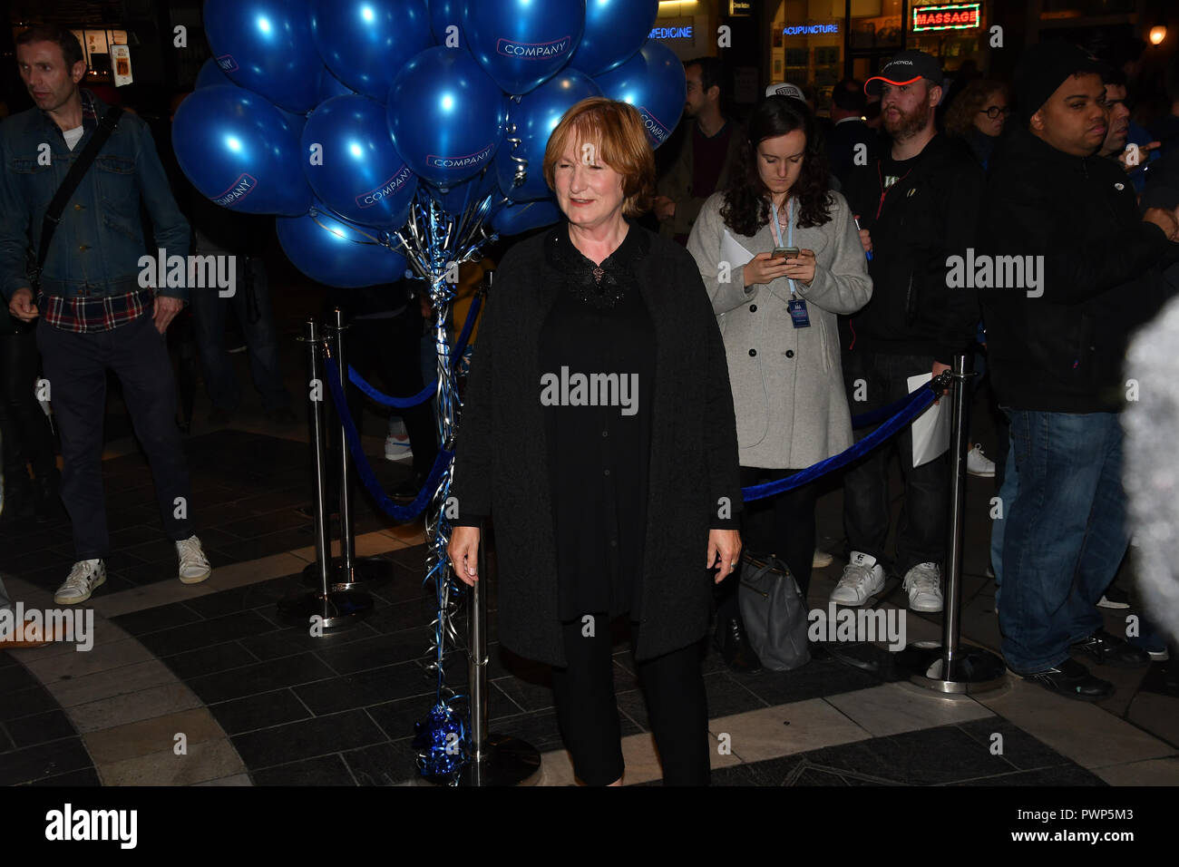 London, UK. 17th Oct, 2018. Deborah Findlay attend the Company - Opening Night at Gielgud Theatre, London, UK. 17 October 2018. Credit: Picture Capital/Alamy Live News - Stock Image
