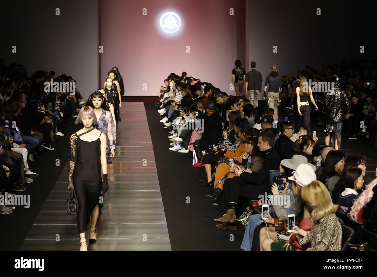 October 18 2018 Seoul South Korea Oct 18 2018 Seoul South Korea Models Catwalk On The