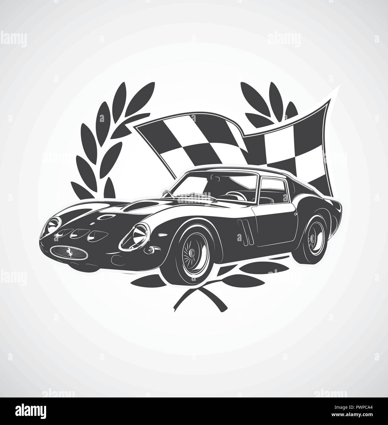 racing Car fer vector illustration - Stock Vector