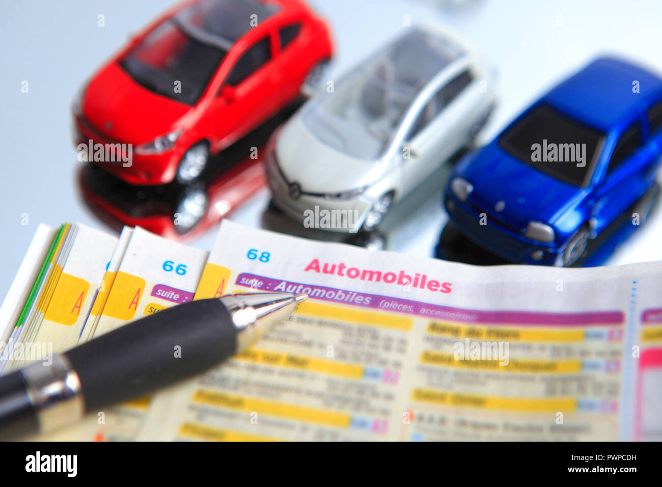 France, still life on car topic. - Stock Image