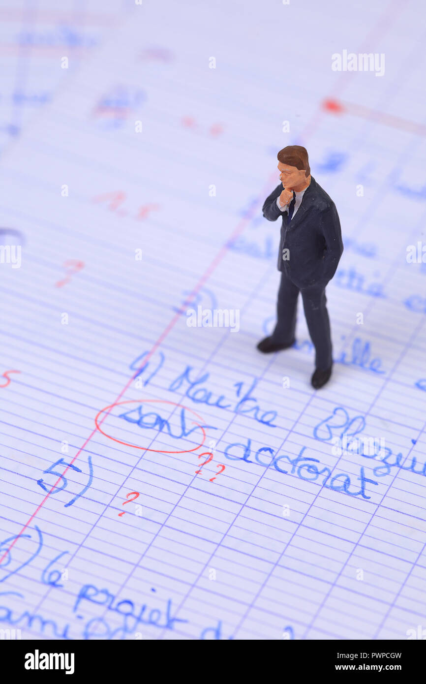 Still life on the topic of evaluation - Stock Image