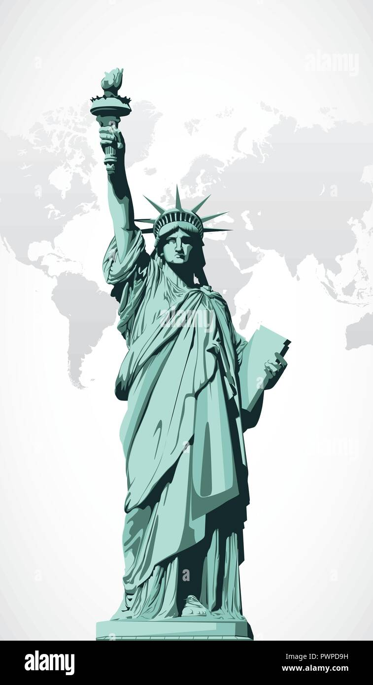 Vector statue of Liberty vector illustration for your design Stock Vector