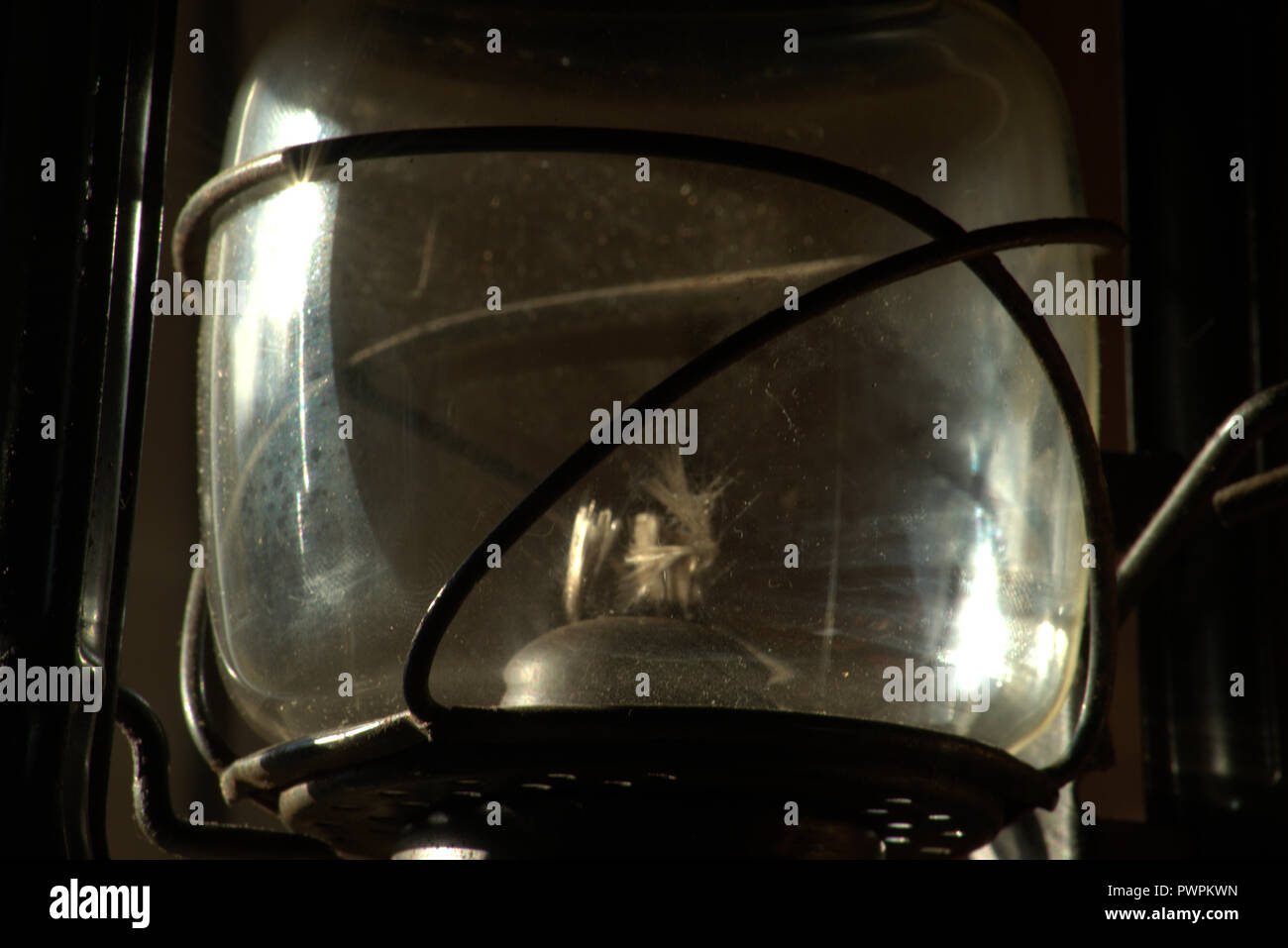 Hurricane or kerosene lamp Stock Photo
