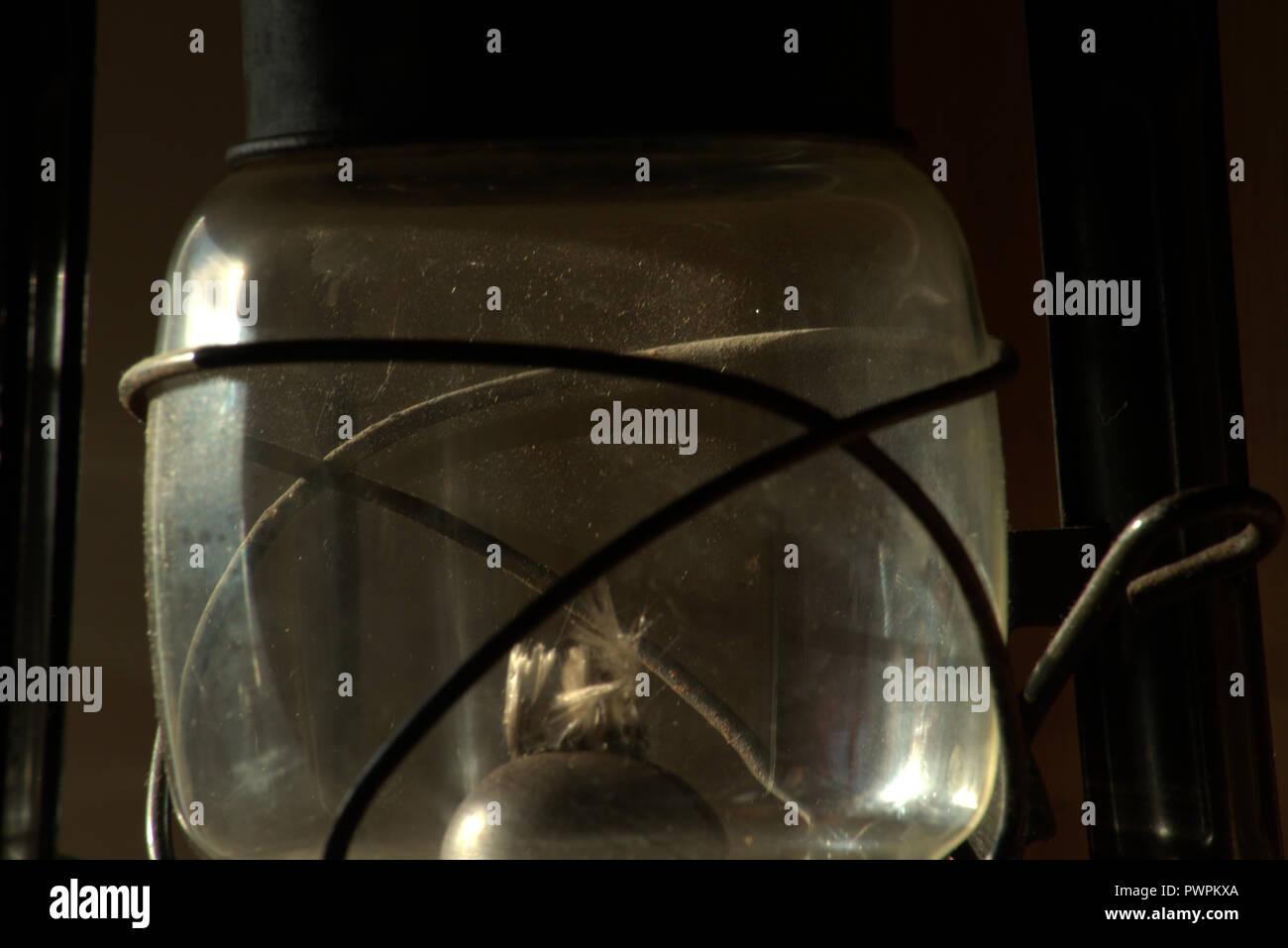 Hurricane or kerosene lamp Stock Photo