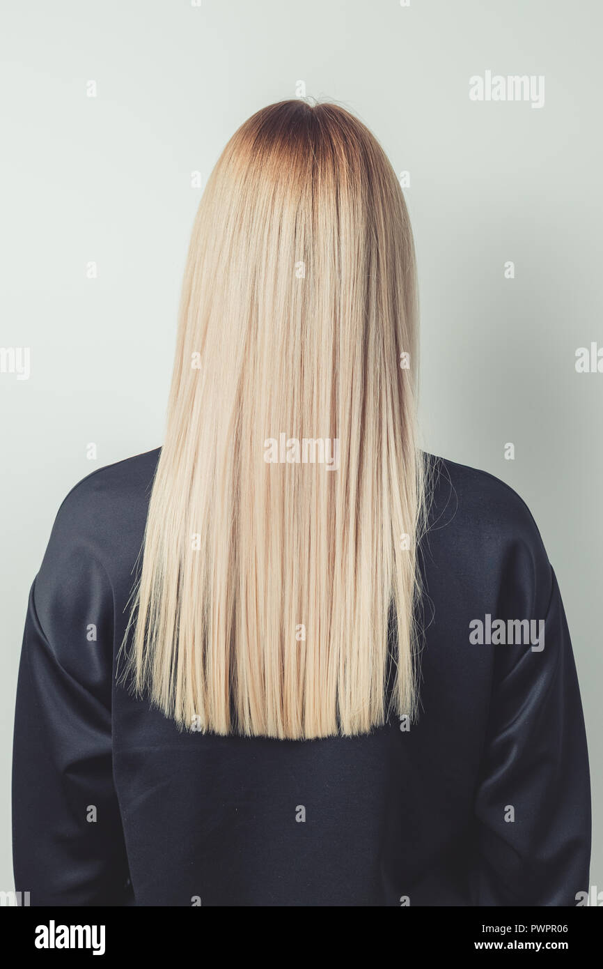 2019 year style- Hair long back straight