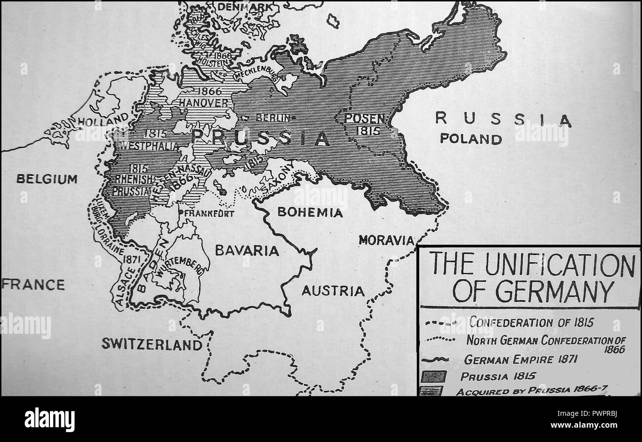 Map Of Germany Pre Unification.Unification Of Germany Stock Photos Unification Of Germany Stock