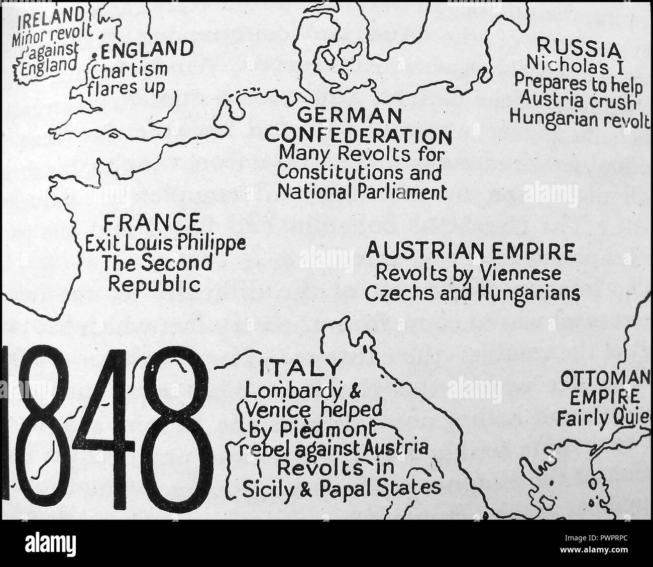 Map Of Europe Black and White Stock Photos & Images - Alamy