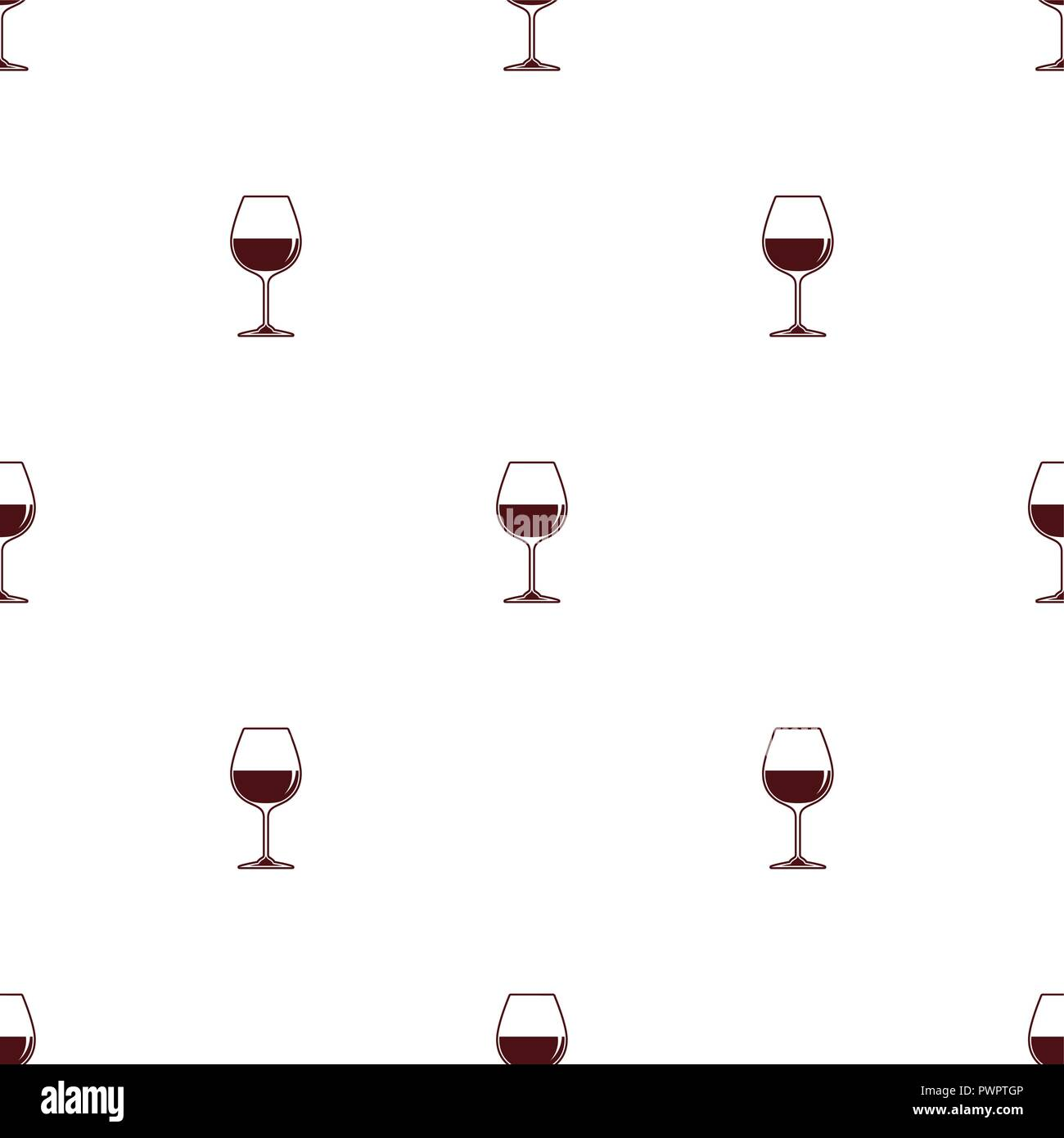 Seamless Pattern Vector Minimalist Background With Wineglass Red Wine Template For Your Design Stock Vector Image Art Alamy