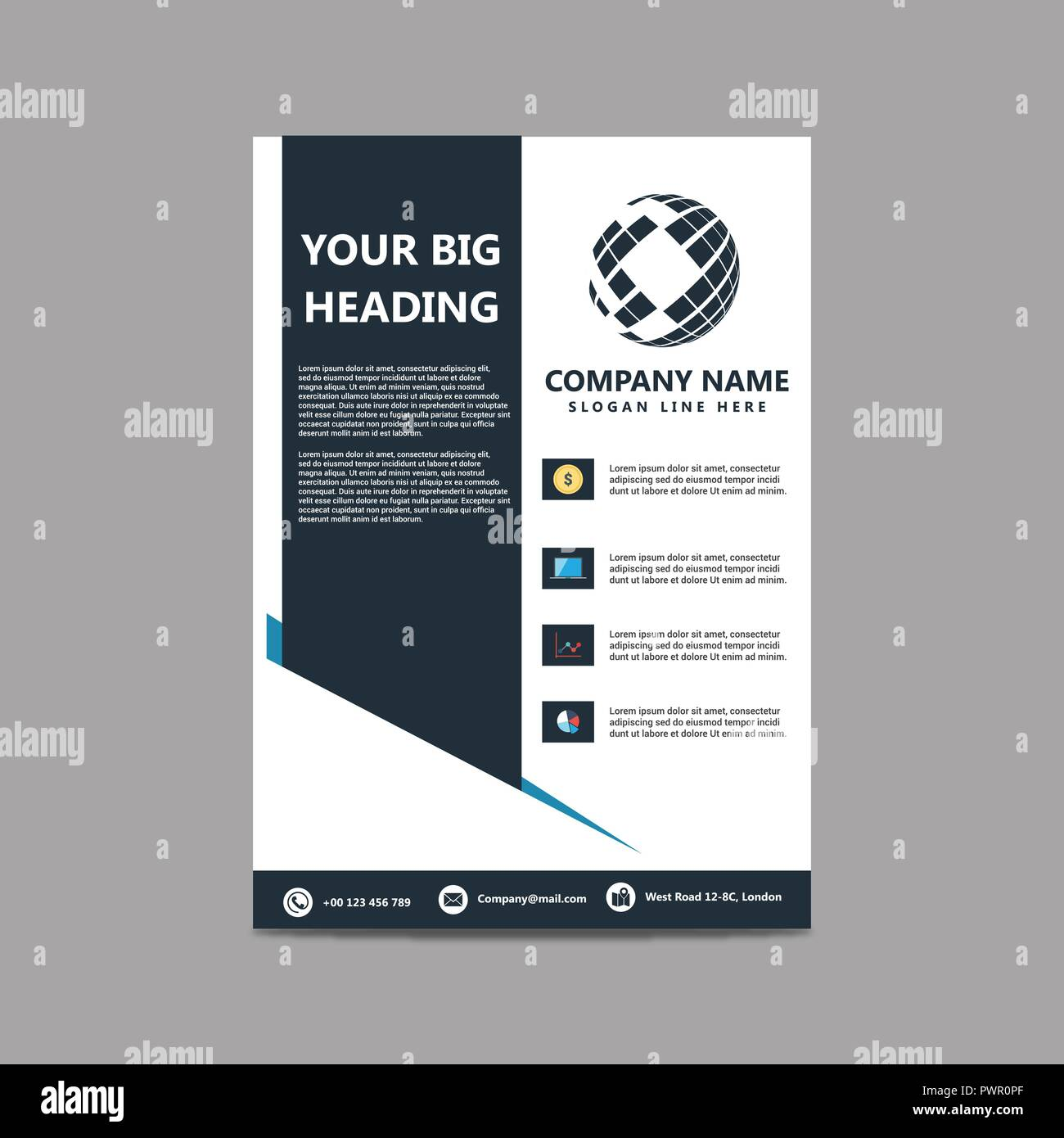 Company Brochure Design With Company Name And Background Design Vector Stock Vector Image Art Alamy