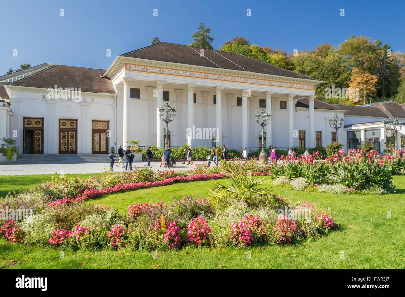 Baden Baden Kurhause Casino Spa Resort and Conference Complex, Baden Baden, Germany, Europe - Stock Image