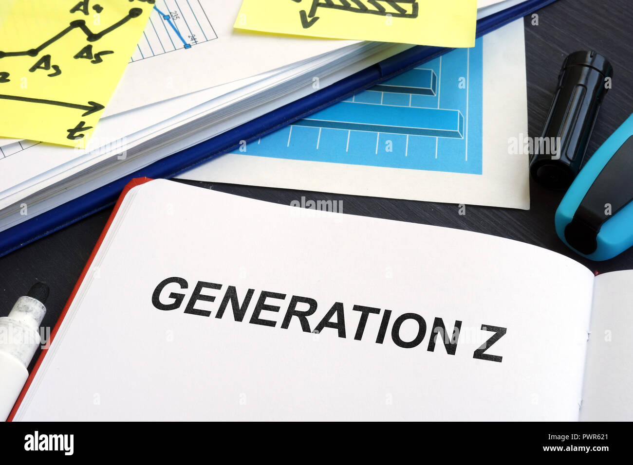 Generation Z written in a book. Marketing concept. - Stock Image