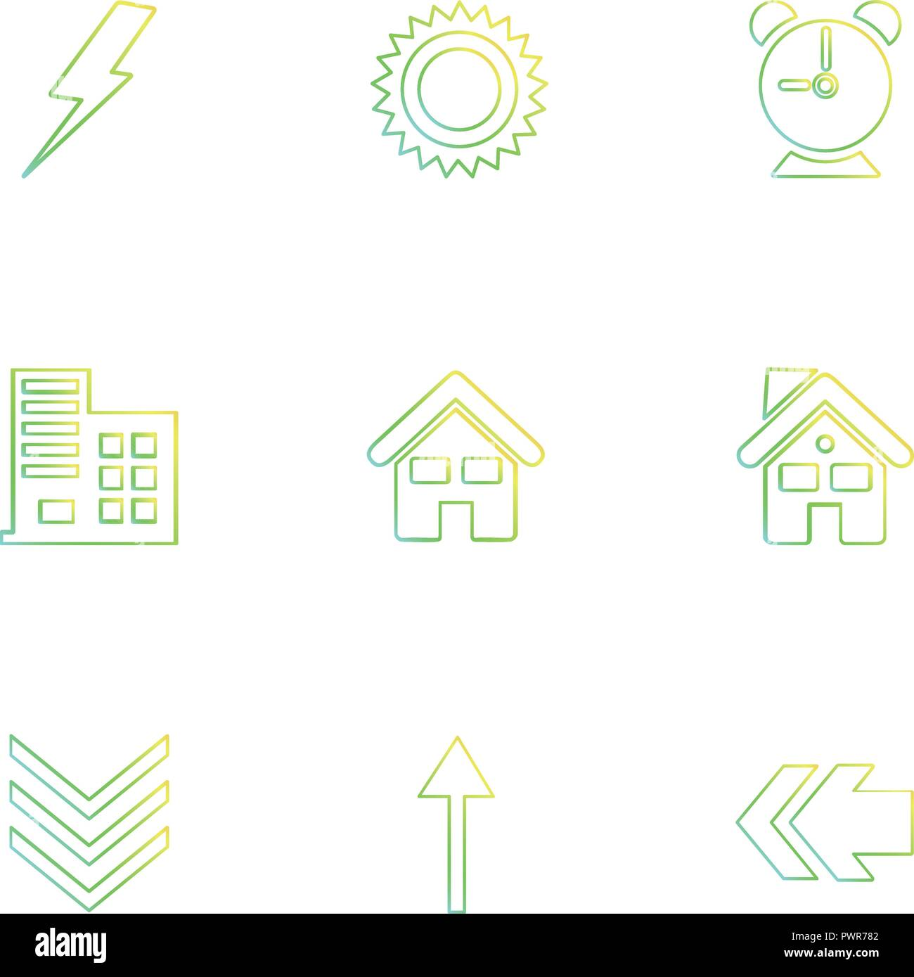 electric , alarm , home , back , ecology , sun , cloud , rain , weather ,  icon, vector, design, flat, collection, style, creative, icons , sky , po