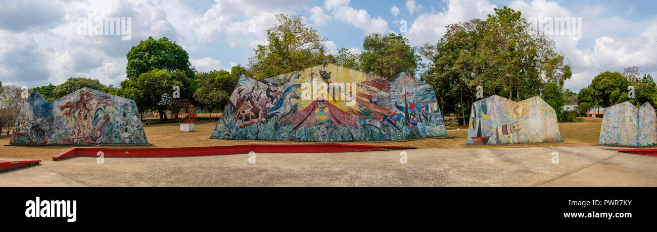 Panama City, Panama - march 2018:  Park Omar, (Parque Omar) in the heart of Panama City, Republic of Panama. Stock Photo