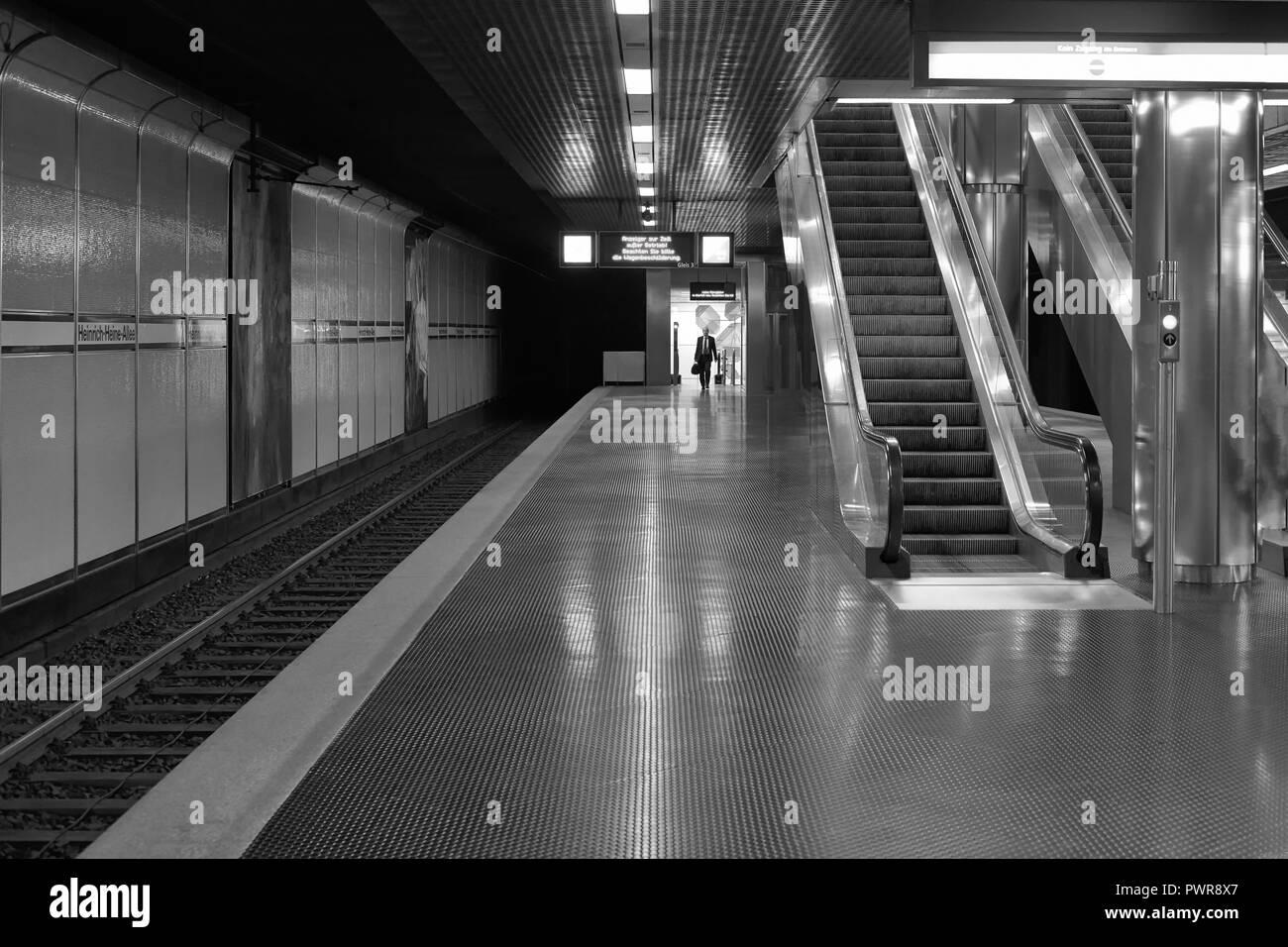 Düsseldorf U-Bahn Stock Photo