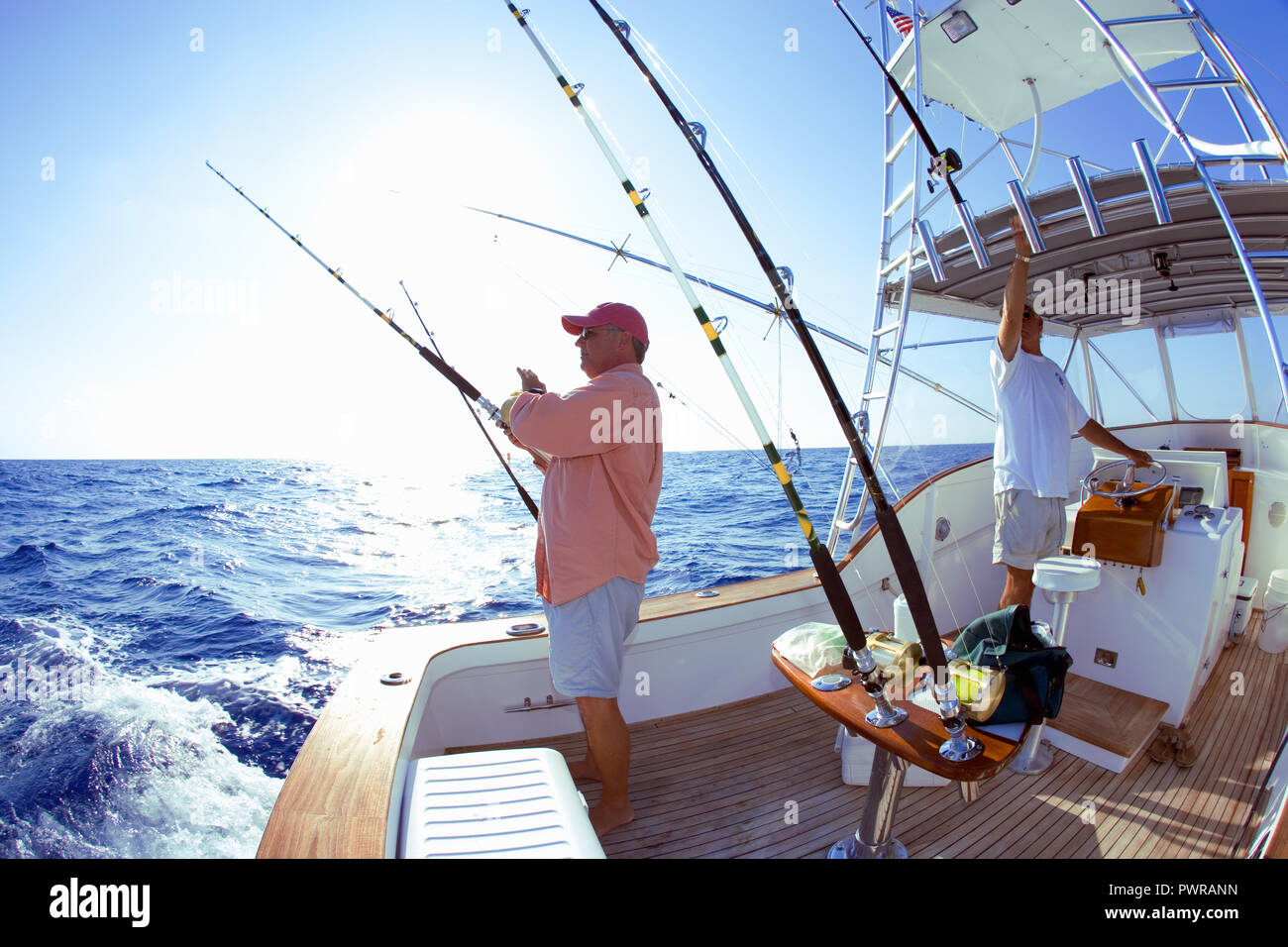 Offshore deep sea fishing in Key West, Florida, USA Stock Photo