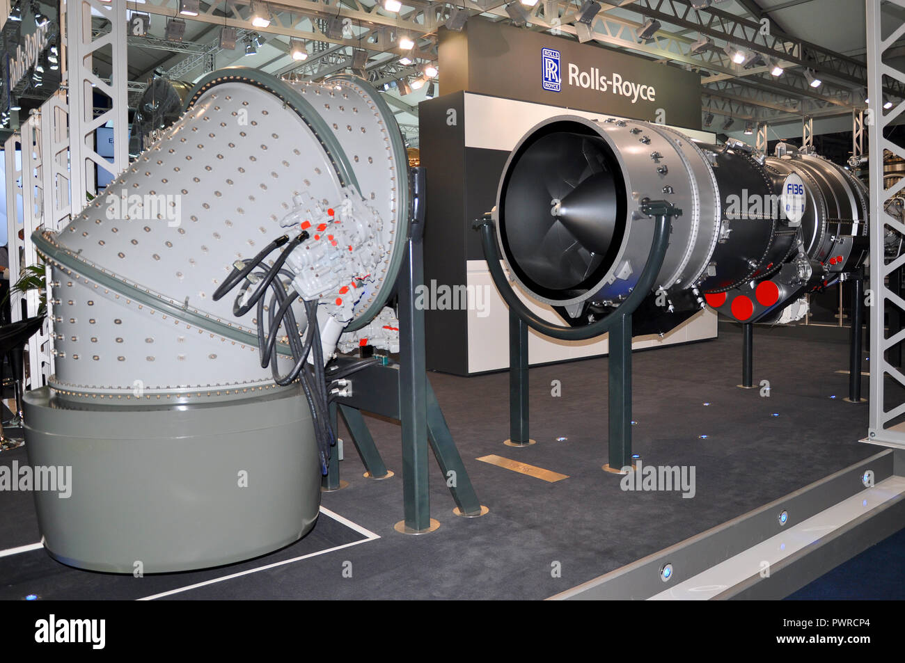 General Electric Rolls-Royce F136 advanced turbofan engine being developed by General Electric and Rolls-Royce plc for the Lockheed Martin F-35 - Stock Image