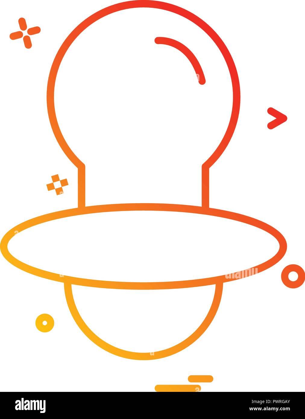 Nipple icon design vector Stock Vector