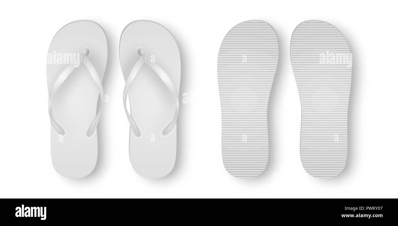 21b50356d flip flops beach shoes accessories rubber. Image ID: P94NC4 (RF). Vector  Realistic 3d White Blank Empty Flip Flop Set Closeup Isolated on White  Background.