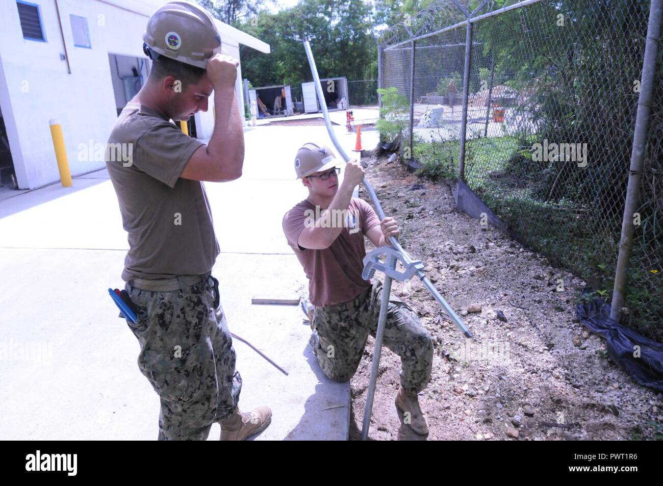 Santa Rita Guam June 26 2017 From The Right Construction With How To Bend Electrical Conduit Together Hawthorne New Jersey Explains Electrician 3rd Class Nicholas Malczewski Chicago