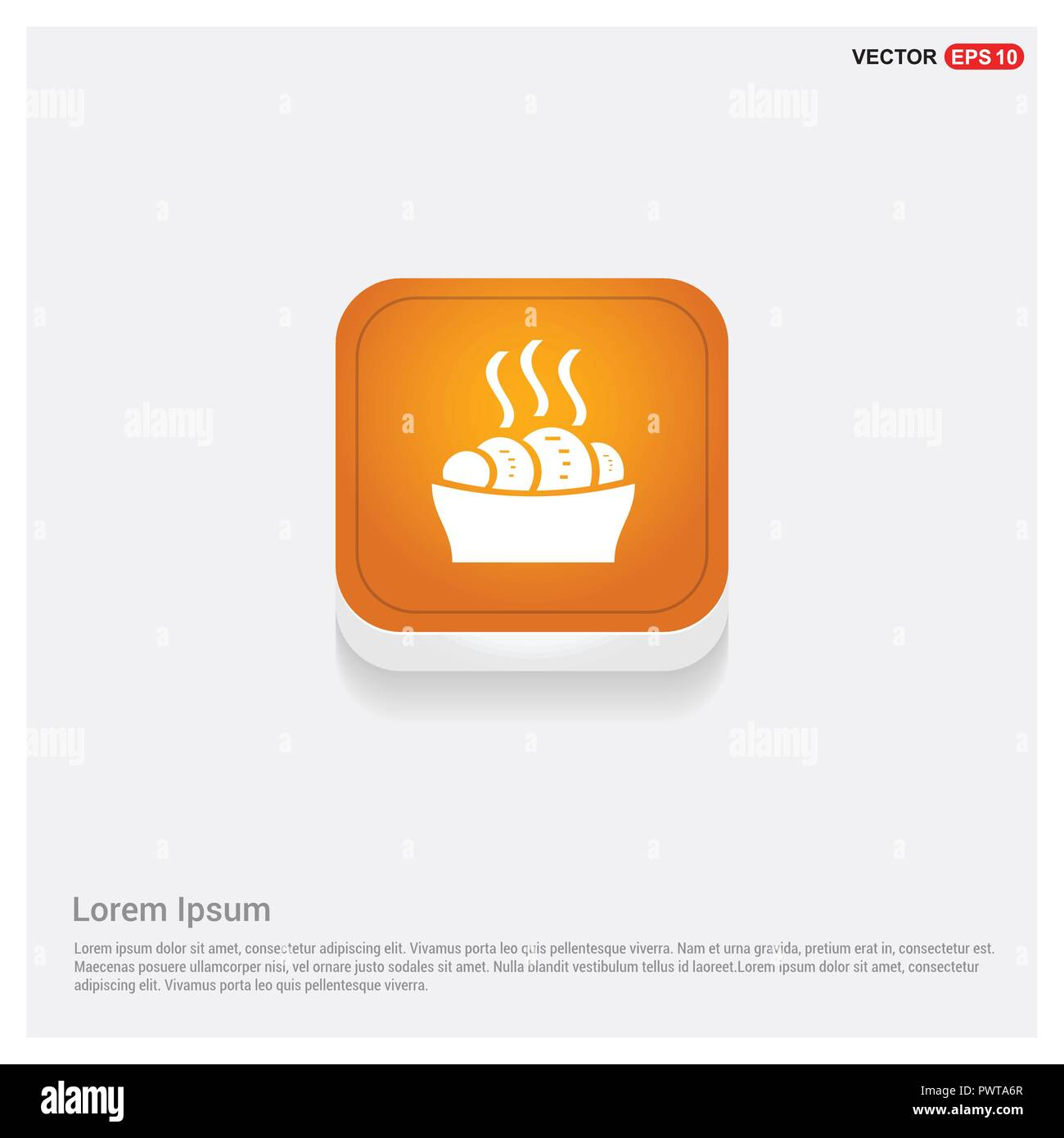 Sweet hot croissant icon - Stock Image