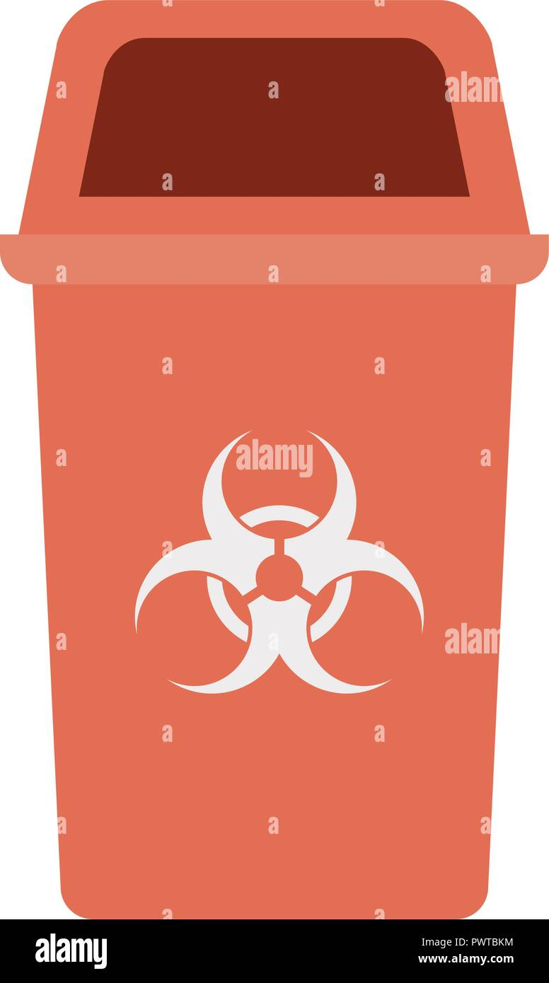 red recycling basket isolated icon - Stock Vector