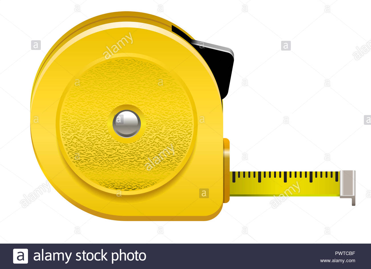 roulette meter measure construction tool precision illustration - Stock Image